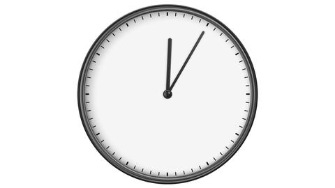 Clock without Numbers. HD 1080. Loop. Isolated on White Stock Video Footage