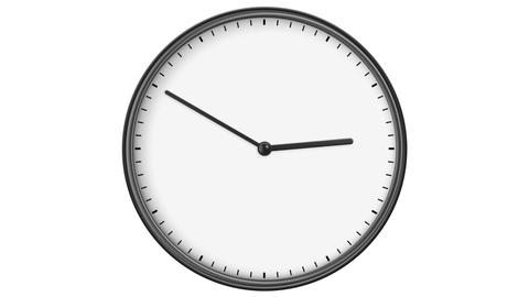 Clock without Numbers. HD 1080. Loop. Isolated on White Animation