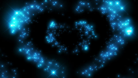 Heart Shape made of Twinkling Stars Beating. Beautiful looped 3d animation. HD 1 Animation