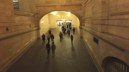 Timelapse of commuters passing at Grand Terminal Footage