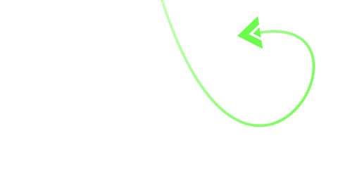 Arrow on white background animated and pointing at center of screen Motion graph Animation