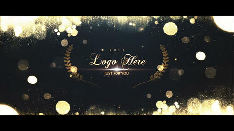 Golden Particles Logo After Effects Template