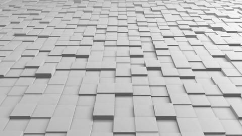 Tiles Cubes Loop 4k Background - White Clean - View 02 Animation