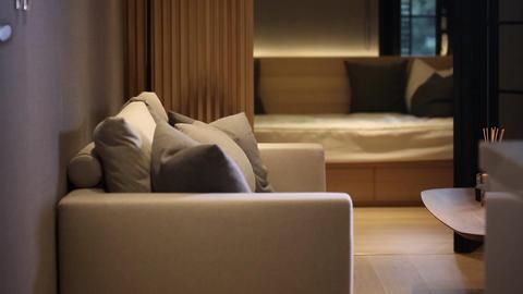 Interior living room Stock Video Footage