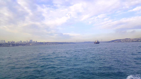 View of istanbul from Bosphorus, Turkey Footage