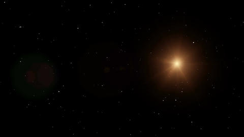 Bright star in space. Motion graphics background Animation