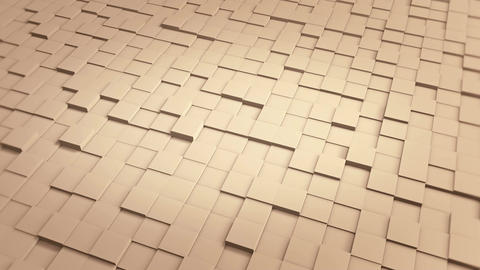 Tiles Cubes Loop 4k Background - Clean Warm Color - View 01
