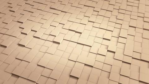 Tiles Cubes Loop 4k Background - Clean Warm Color - View 01 Animación