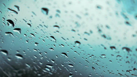 Video of rain drops on the window in real slow motion Archivo