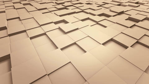 Tiles Cubes Loop 4k Background - Clean Warm Color - View 03 Animation