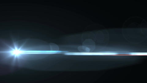 Animation of Lens Flares on a black Animation