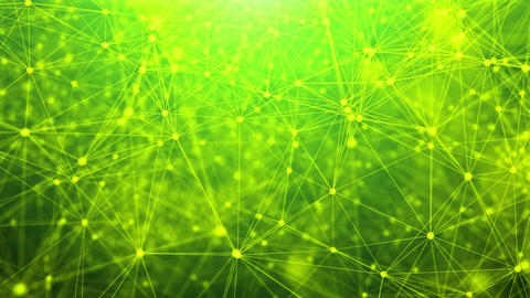 Abstract technology network with green background Animation
