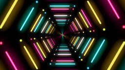 Neon tunnel Animation
