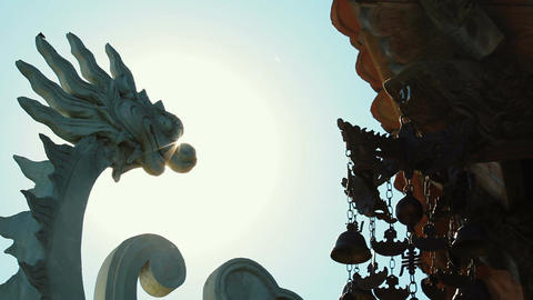 Buddhist bells fluttering in the wind Archivo