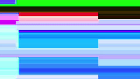 Glitch TV Screen. Colourful Stripes Footage