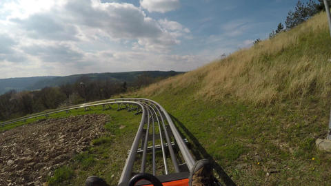 Fun on the bobsleigh track Footage