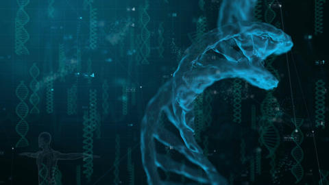 DNA Medical Background is a great animated video for any health related projects CG動画素材