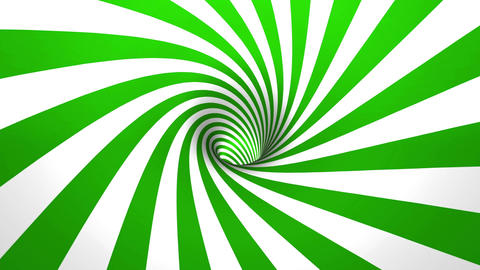 hypnotic spiral 4K 50fps green and white seamless loop Animation