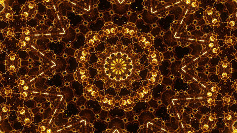 Gold Kaleido Abstraction Animation