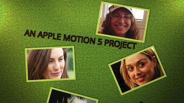 Falling Photos: Template for Apple Motion 5 and Final Cut Pro X Apple Motion-Vorlage