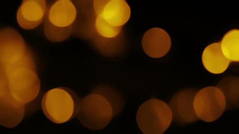 Gold Organic Bokeh Overlay 4 Animation