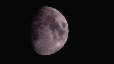 Waxing Gibbous Moon Footage