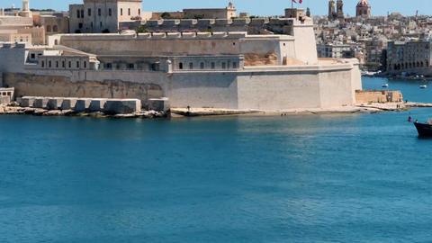Maltese coast in Valetta multi drections time lapse Footage