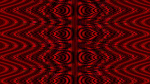 Wave flow digital pattern, zig zag optical illusion, red color animated video ba Animation