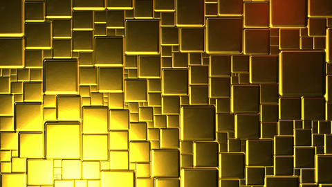 Golden Cubes Background In 4k CG動画素材