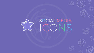 Social Media Icons Plantilla de After Effects