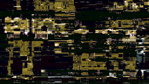 Colored Noise Grunge Glitch Run Video Hard Datamosh Damage Background Animation