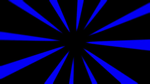 Rotating Blue Rays Of Light Abstract Motion Background Animation