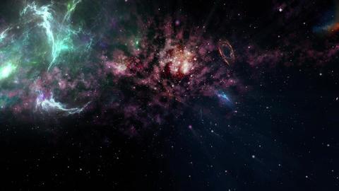 Flying through the stars Animación