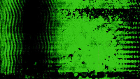 Green Glitch Motion Data Filmstrip Frame Psychedelic Background Animation