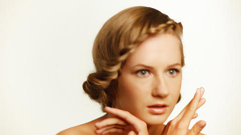 blonde woman in studio Stock Video Footage