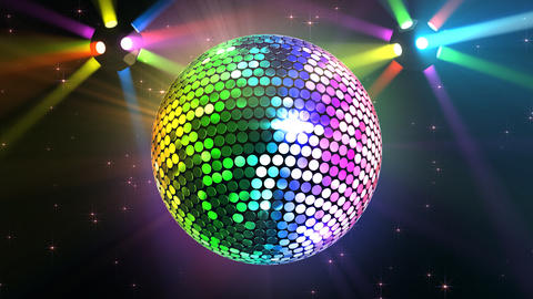 Mirror Ball 2b H Cc 2 HD Stock Video Footage