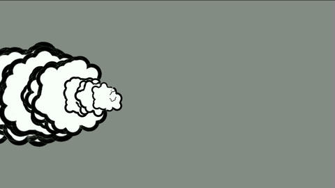 Cartoon smoke Stock Video Footage