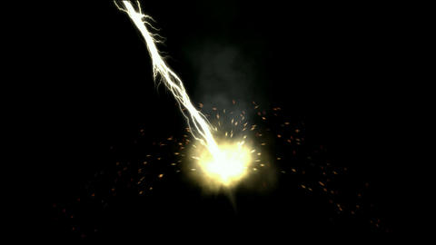 lightning magnetic field & rays ball,modern rays laser weapon Animation