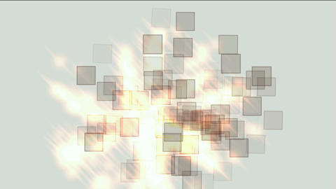 glass square & mosaic debris background,flash fire light Animation