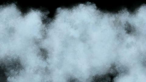 splash waterdrop and smoke at night Stock Video Footage