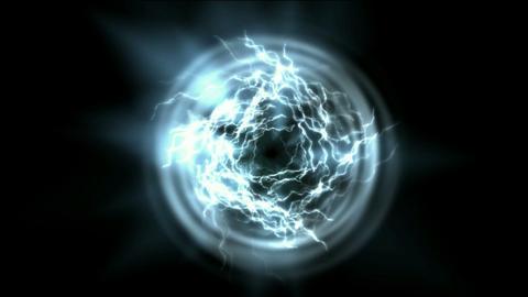 power energy tunnel & lightning magnetic field Stock Video Footage