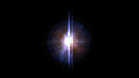 explosion in universe,energy field launch rays laser Stock Video Footage