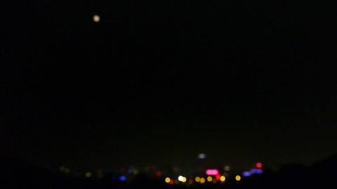 city vision at night,Night neon view Stock Video Footage