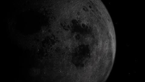 Zoom Space from the Moon to Earth Stock Video Footage