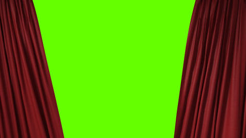 red curtain with the heart shaped spotlight Stock Video Footage