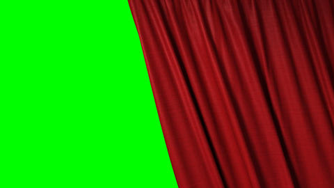 closing red curtain Stock Video Footage