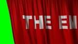"closing red curtain with title ""the end"" Animation"