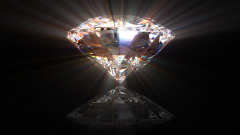 beautiful rotating diamond, all parts are loop-able, 3d... Stock Video Footage