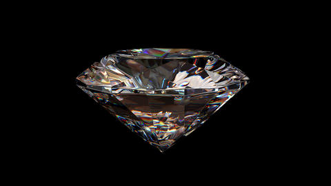 Beautiful Rotating Diamond, All Parts Are Loop-able, 3d Animation stock footage