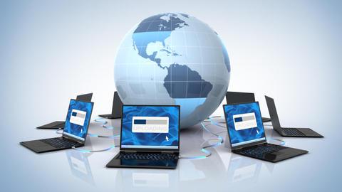 Global uploading Stock Video Footage